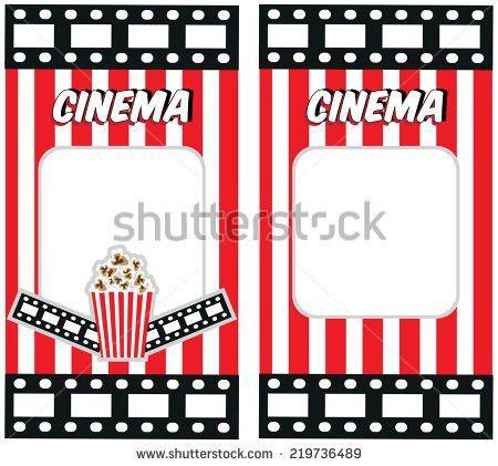 Cinema Tickets Invitation Design Template Stock Vector 217775920 ...