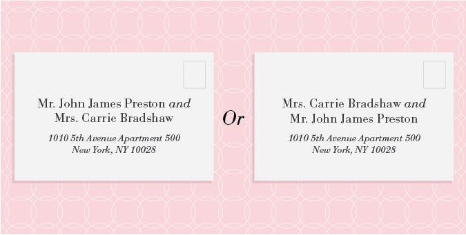 How To Address Wedding Invitations - Blueklip.Com