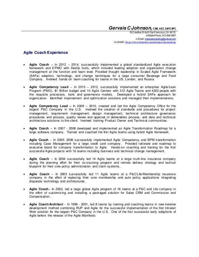 Scrum Master Resume Sample Scrum Master Resume 8 Examples In Pdf
