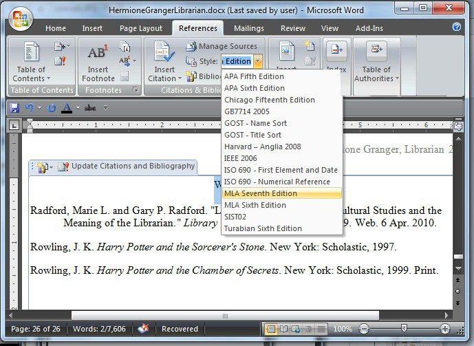 Using Microsoft Word to Create References and Bibliographies0 ...