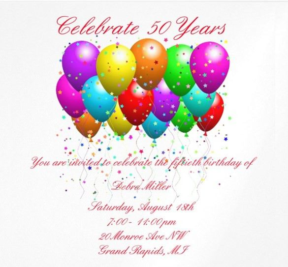 14+ 50th Birthday Invitations – Free PSD, AI, Vector EPS Format ...