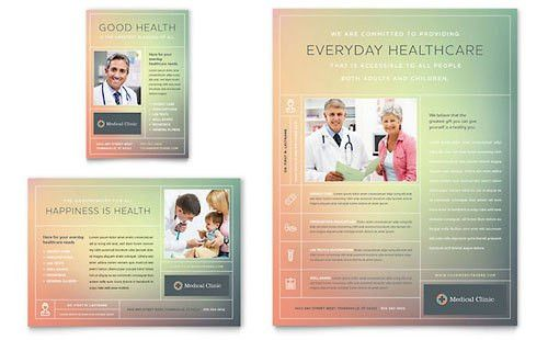 Physicians Office | Print Ad Templates | Medical & Health Care