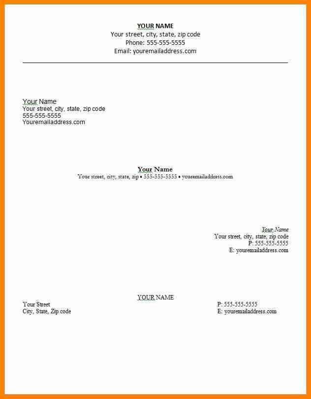 resume heading samples sample resume headers sample resume format ...