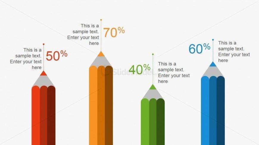 Creative Pencil Metaphor Bar Chart for PowerPoint - SlideModel