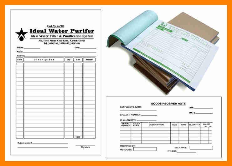 4+ invoice bill book sample | resumes great