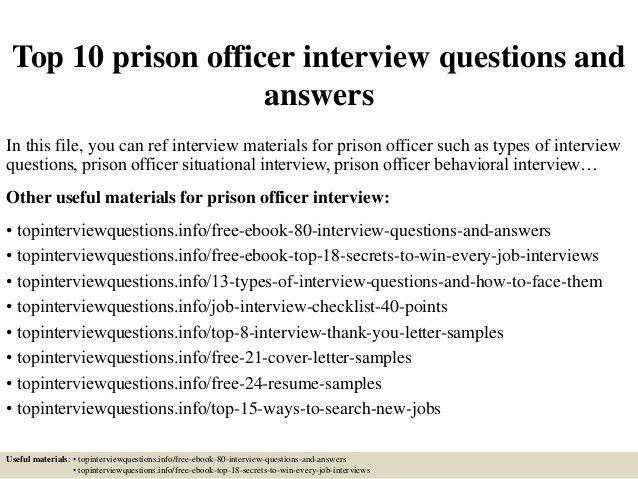 correctional officer cover letter officer cover letter prison ...