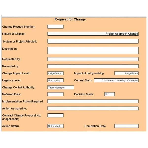 Free Change Control Template: Download & Customize for Your ...