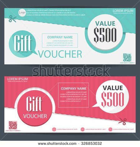Gift Voucher Certificate Coupon Food Menu Stock Vector 324231800 ...