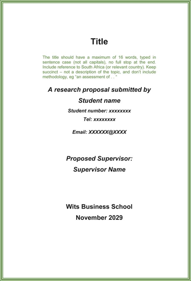 Research Proposal Template - 3+ Printable Samples