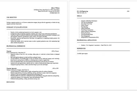 apprentice carpenter resume sample and text template eager world