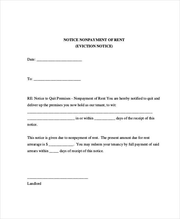Eviction Letters - 7+ Free PDF, Word Documents Download | Free ...