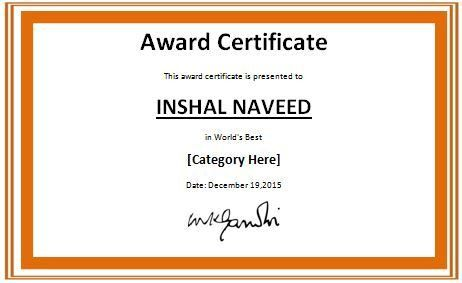 Colorful World's Best Award Certificate Template | Formal Word ...