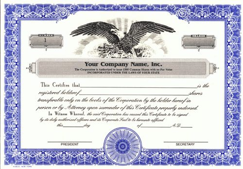 Corporate Stock Certificates