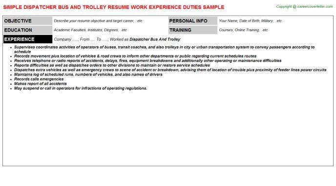 Trolley Boy Resumes Samples