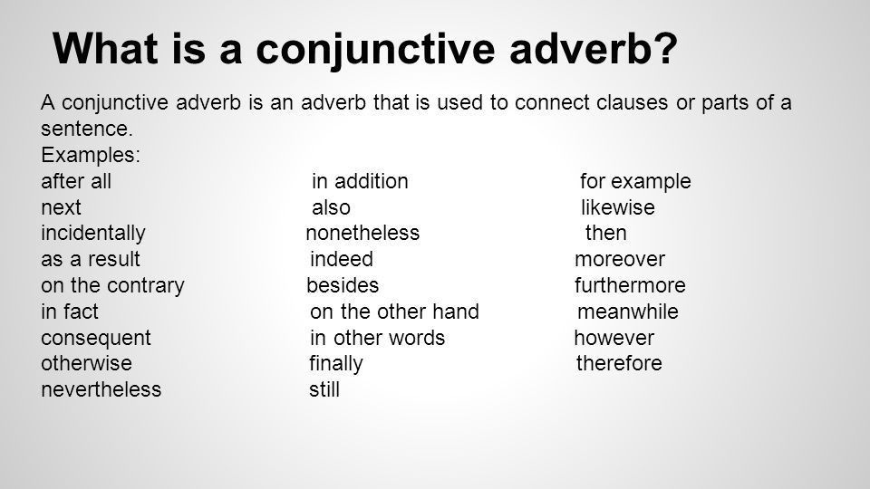 with Conjunctive adverbs - ppt video online download