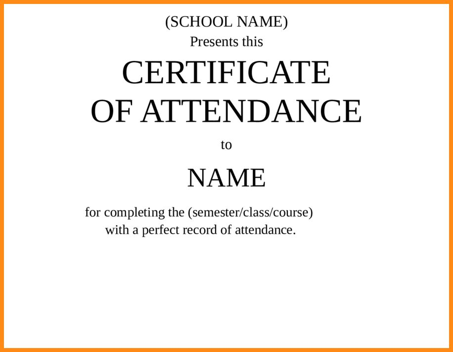Sample certificate of attendance attendance certificate 9 certificate of attendance sample musicre sumed yadclub Choice Image