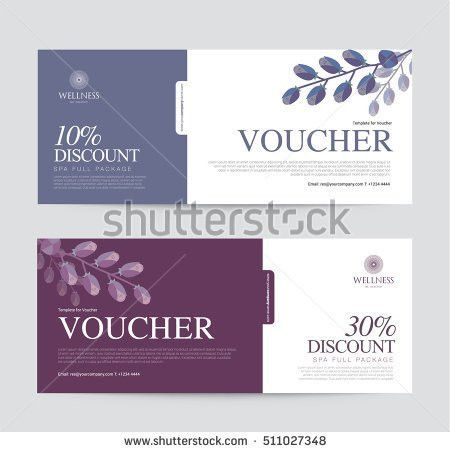 Gift Voucher Template Spa Hotel Resort Stock Vector 413703865 ...