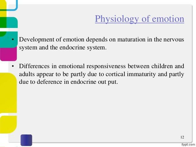 Emotional development of child