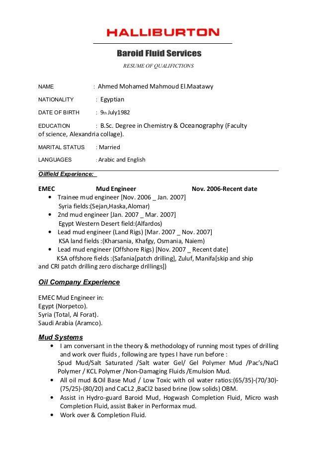 CV-Halliburton Format