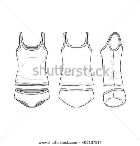 Clothing Set Blank Vector Templates White Stock Vector 658935928 ...