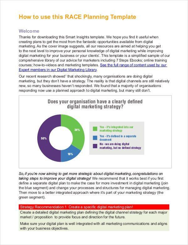 Marketing Strategy Plan Template - Free Word, PDF Documents ...
