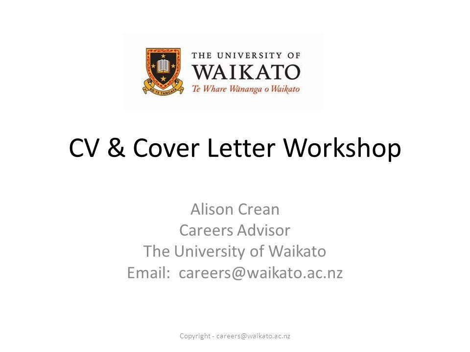 CV & Cover Letter Workshop - ppt video online download