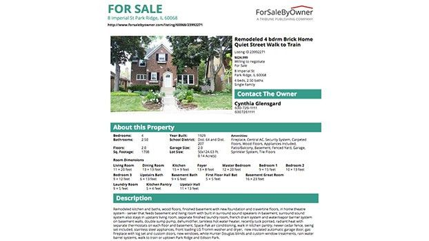 A Great House For Sale By Owner Flyer - ForSaleByOwner.com