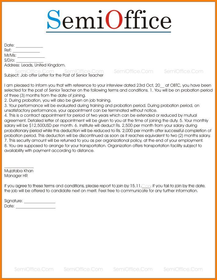 Sample Job Offer Letter.job Offer Letter Template.png - LetterHead ...