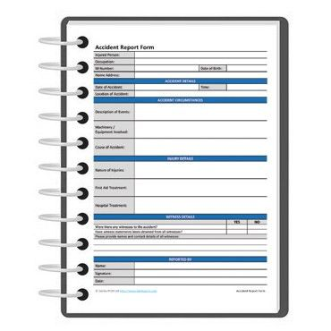 Accident report form template | Darley PCM
