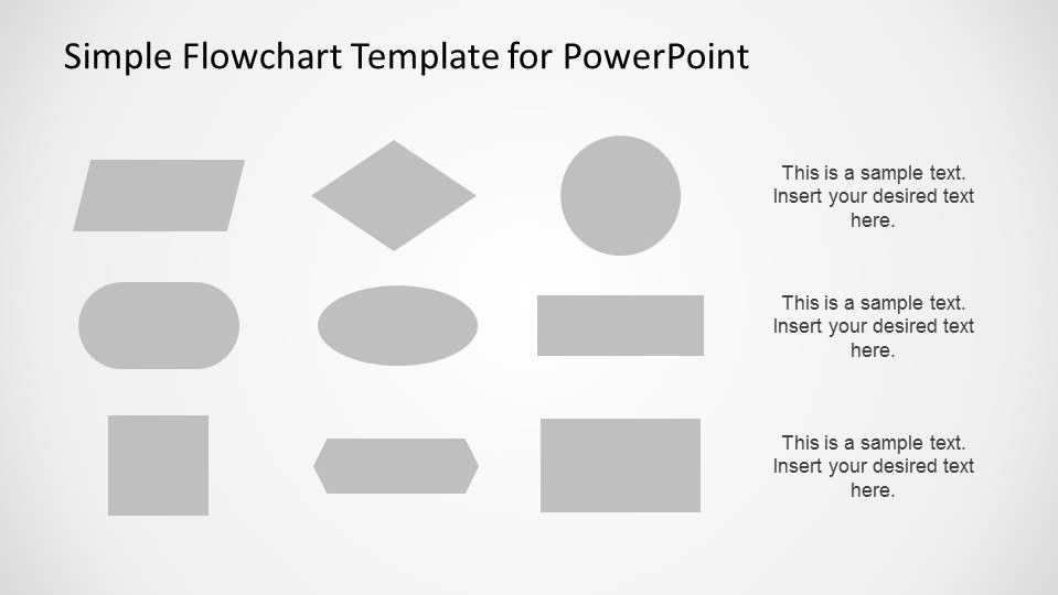Simple Flowchart Template for PowerPoint - SlideModel