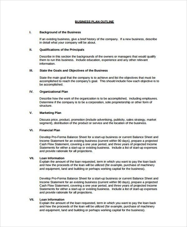Sample Presentation Outline Template - 6+ Free Documents Download ...