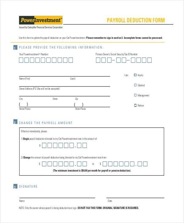 Payroll Deduction Form. Nmu Employee Nmu Employee | Nmu Foundation ...