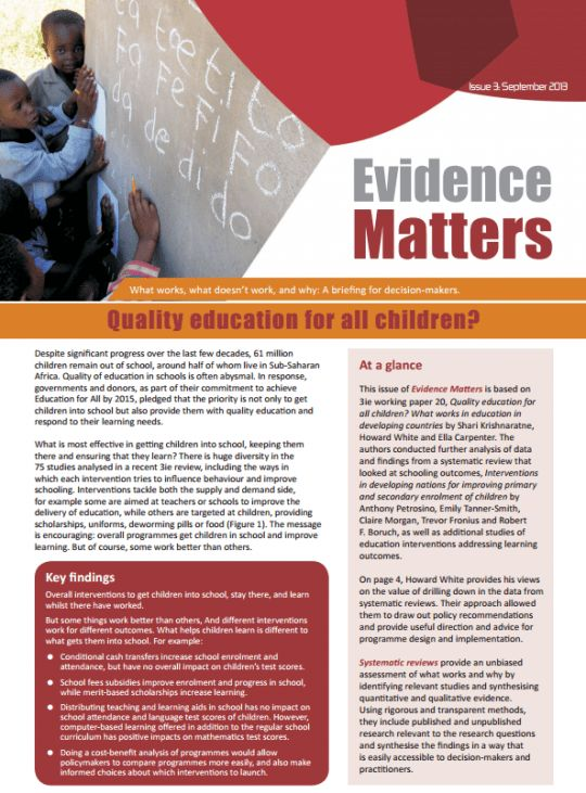 Do policy briefs change beliefs? | Impact Evaluations