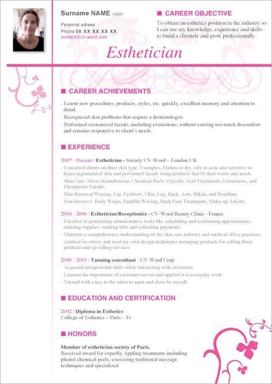 Staggering Esthetician Resume 13 Medical Esthetician Cover Letter ...