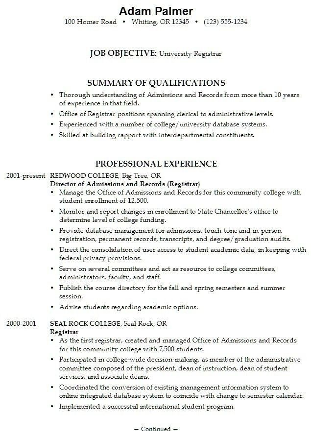 College Application Resume Examples - Best Resume Collection