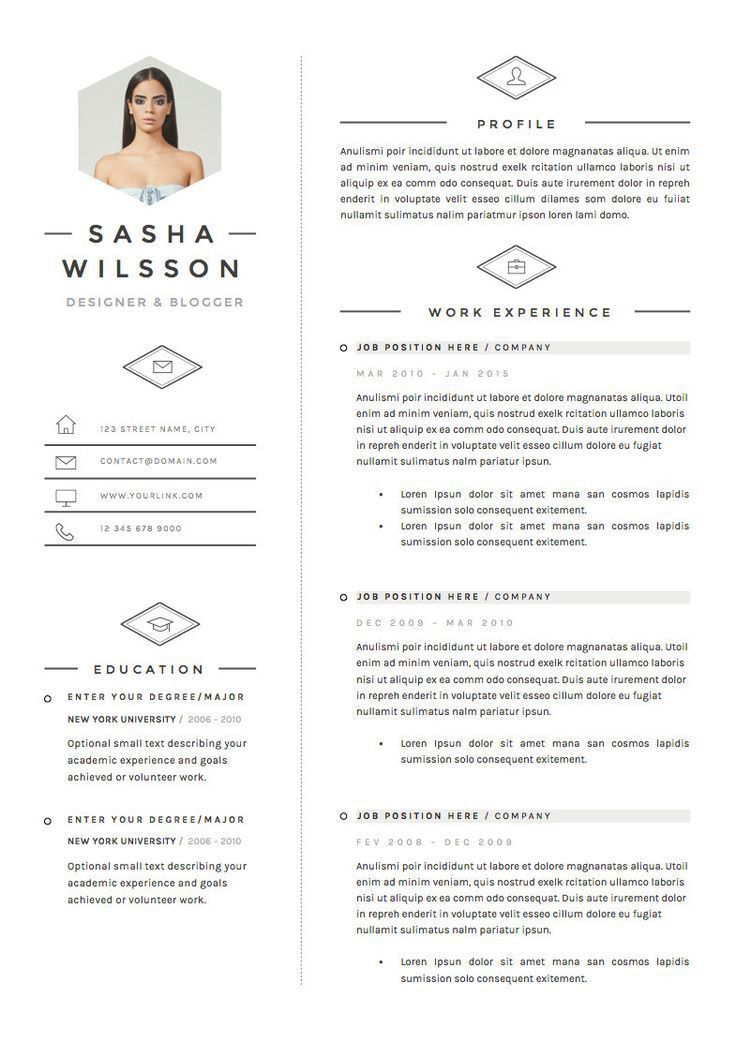 48 best Resume Design images on Pinterest | Resume ideas, Resume ...