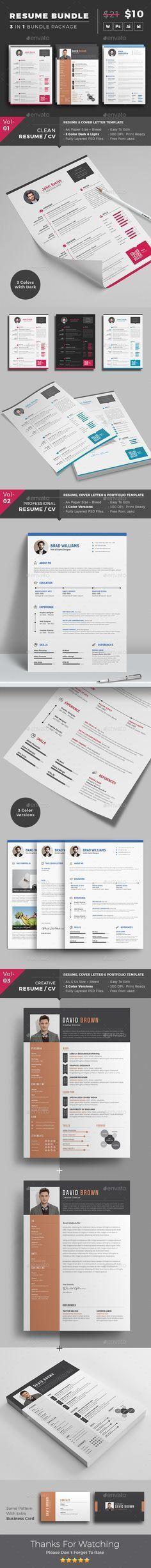 Amanda Resume/CV Template Word Photoshop InDesign | Resume ...