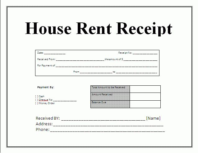 11+ rent receipt word | Survey Template Words