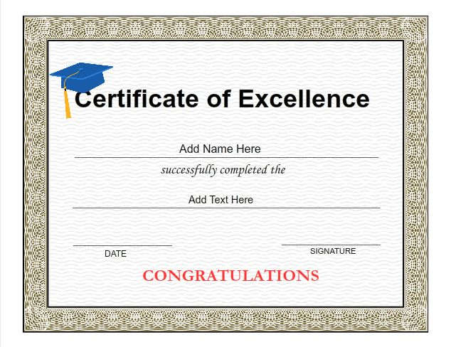 Graduation Certificate Templates - Customize with iClicknPrint
