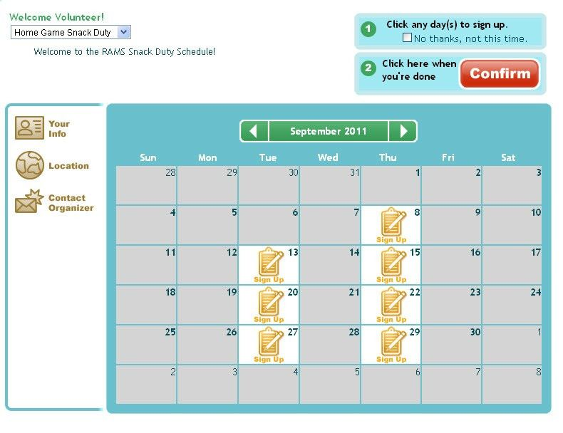 Snack Sign Up Sheet - Free Template - Online SignUp Blog by SignUp.com