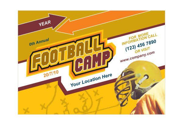 Football Sports Camp Print Template Pack from Serif.com