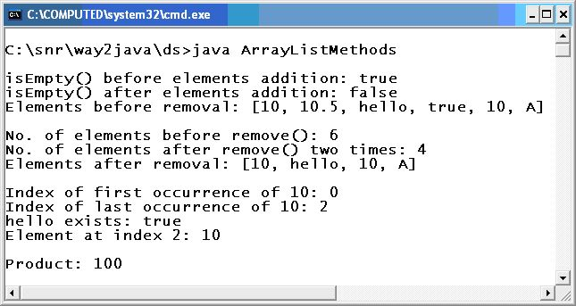 Example Methods Java