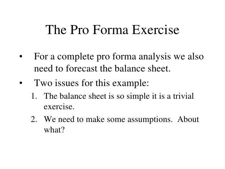 Sample Pro Forma Income Statement. Pro Forma Income Statement Food ...
