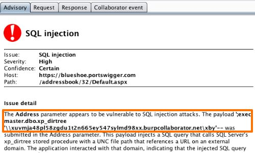 Using Burp to Detect Blind SQL Injection Bugs | Burp Suite Support ...