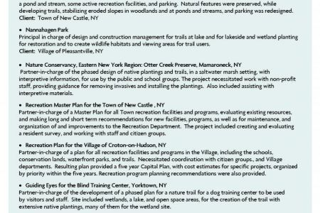 Sample Resume For Landscape Architect - Reentrycorps