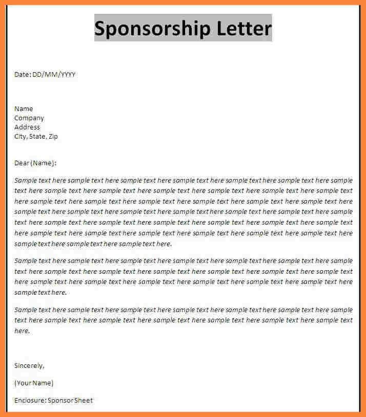 Sponsorship Proposal Template. Doc 600700 Sample Of Sponsorship ...