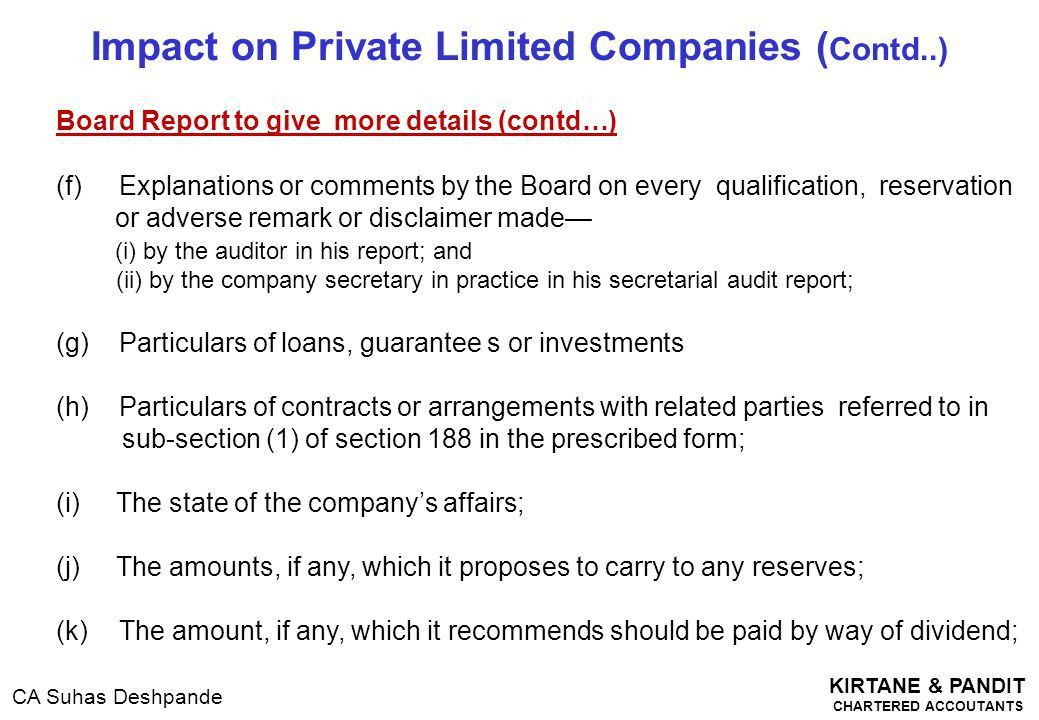 Accounts, Audit, Directors & Related Party Transactions - ppt download