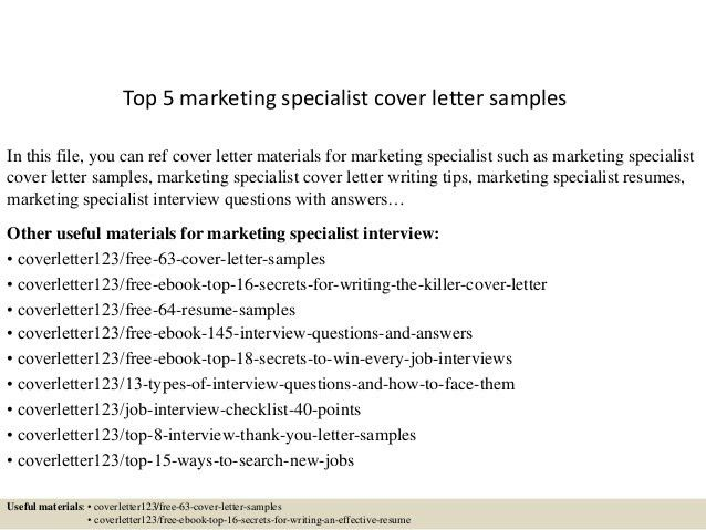 Email Marketing Specialist Cover Letter