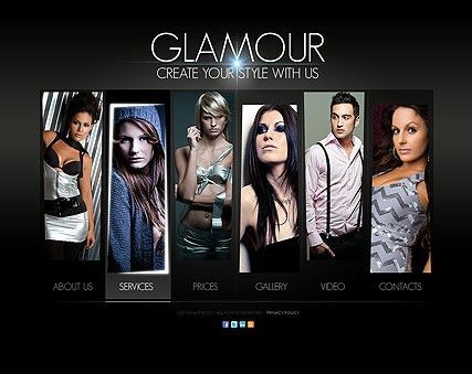 Glamour Fashion HTML5 template | Best Website Templates