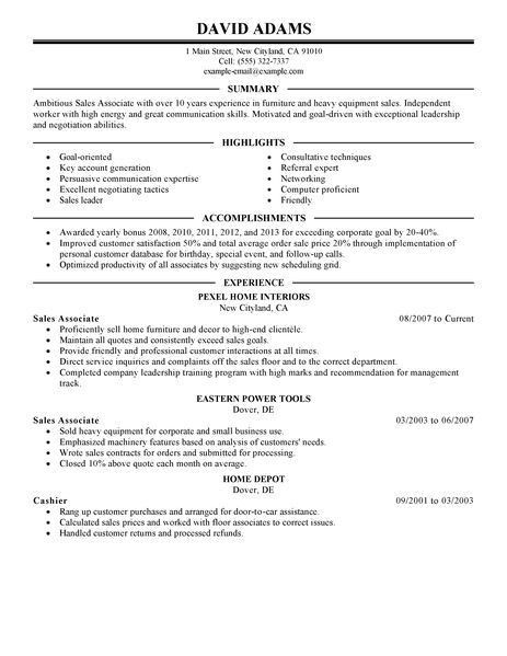Excellent Sample Resume For Sales Associate And Customer Service ...